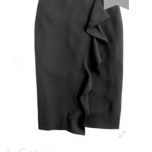 Ruffle pencil skirt in 365 crepe NWT J CREW